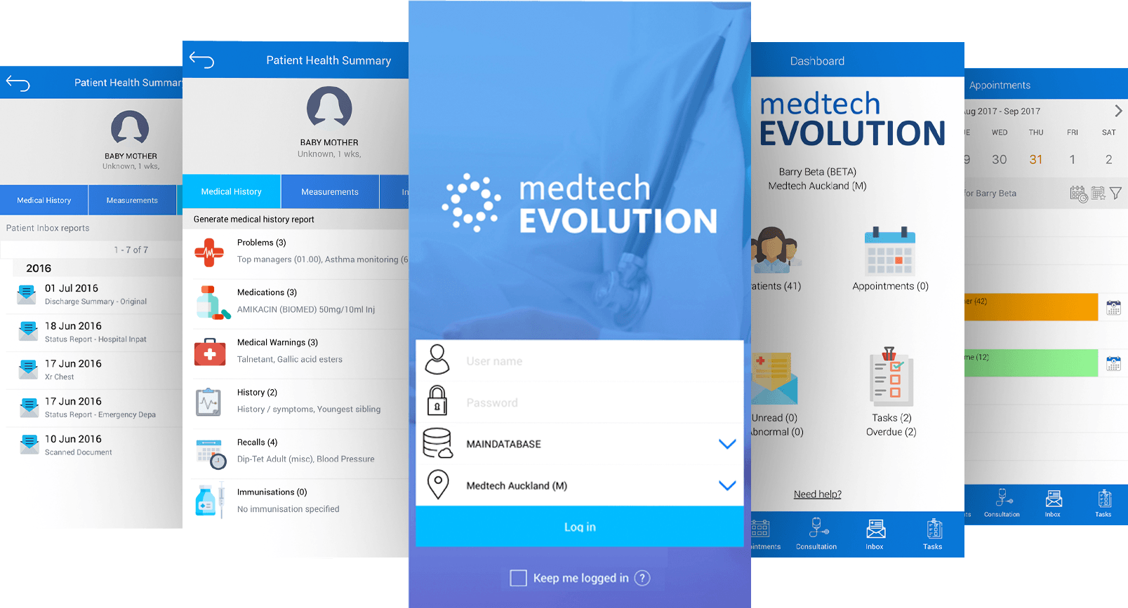 Medtech Mobile App Screens
