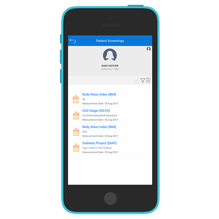 Medtech Mobile App - Patients Screening Measurements