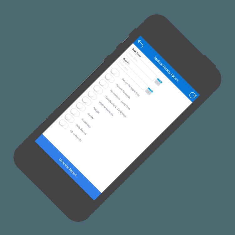 Medtech Mobile App, Patient Medical Records