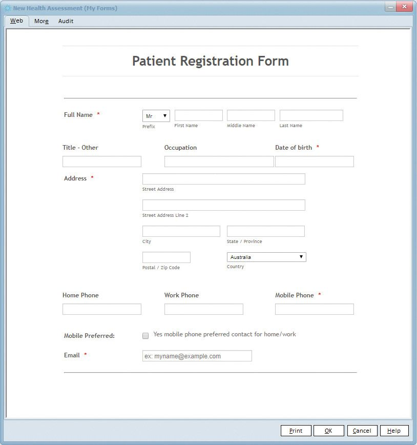 customised forms
